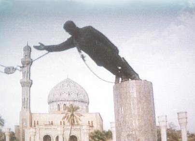 Saddams hemstad i usas hander